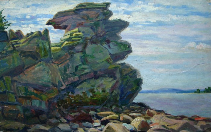 Иван Слюсарев. Скала на Исетском озере