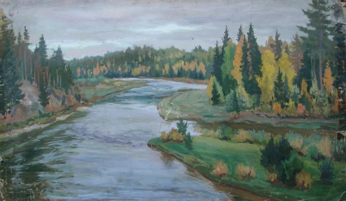 Слюсарев. Осень на реке Исеть