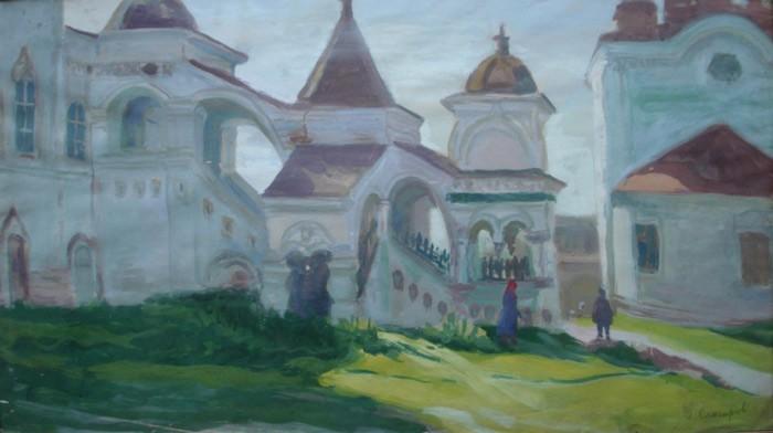 И.К. Слюсарев. Соликамск. Церковь, 1934 г.