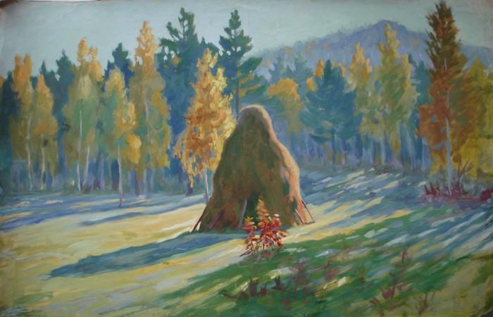 И.К. Слюсарев. Осеннее утро у горы Волчиха, 1930-е