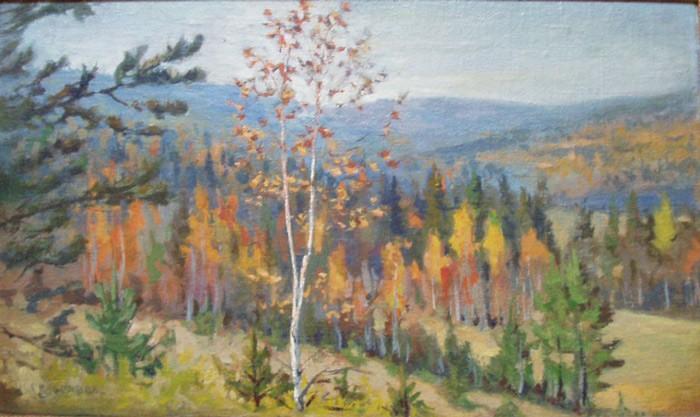 И.К. Слюсарев. Осенний пейзаж