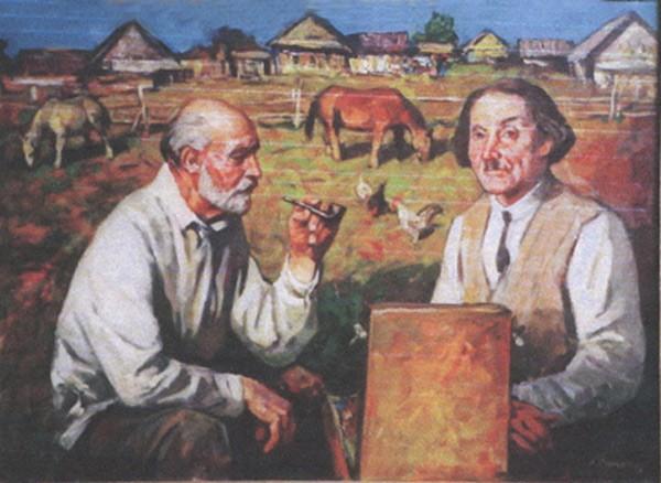 Художники Слюсарев и Туржанский