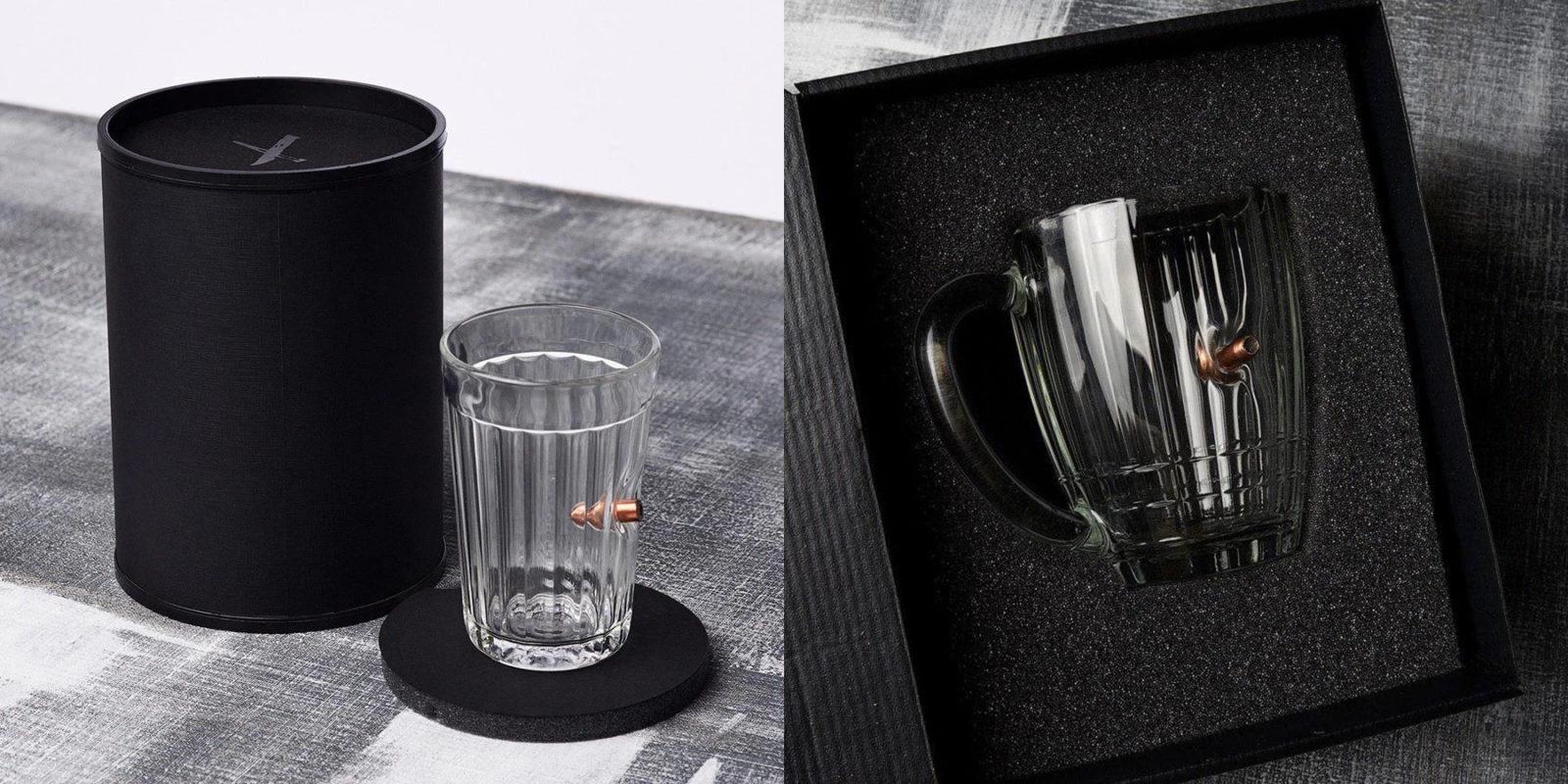 Подарки к застолью, которыми вы всех удивите. Бокалы и стаканы с пулями и серебряными гвоздями
