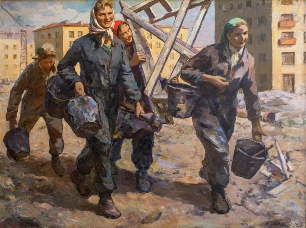 Изобразительное искусство СССР. Строители социализма. Ч.7
